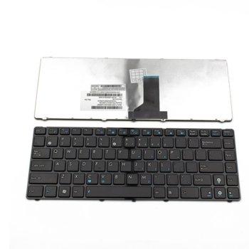 Клавиатура за лаптоп Asus U30, U30Jc, UL30, silver frame, black, US / UK image