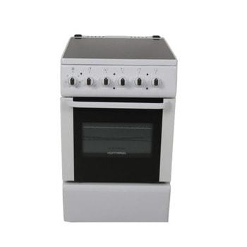 Готварска печка Hoffmann EC5022W, 4 нагревателни зони, 2х1200 W / 2x1800 W, 51 л. обем на фурната, 6 функции, двойно стъкло на фурната, термостат, бяла image