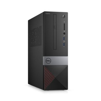 Настолен компютър Dell Vostro 3471 SFF (N304VD3471EMEA01_R2005_22NM_UBU), четириядрен Coffee Lake Intel Core i3-9100 3.6/4.2 GHz, 8GB DDR4, 256GB SSD, 2x USB 3.1, клавиатура и мишка, Linux image