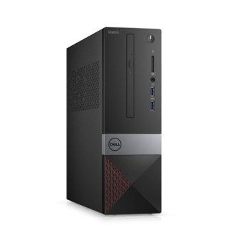 Настолен компютър Dell Vostro 3471 SFF (N304VD3471EMEA01_R2005_22NM_UBU), четириядрен Coffee Lake Intel Core i3-9100 3.6/4.2 GHz, 8GB DDR4, 256GB SSD, 2x USB 3.1, клавиатура и мишка, Linux image