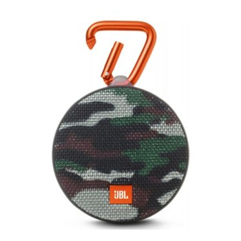 Тонколона JBL Clip 2 Squad Special Edition, 1.0, 3W RMS, 3.5mm jack/Bluetooth, камуфлаж, микрофон, IPX7, до 8 часа работа image