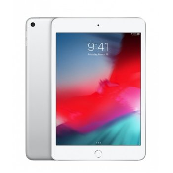 """Таблет Apple iPad Mini 5 (MUU52HC/A)(сребрист), 7.9"""" (20.07 cm), осемядрен Apple A12 Bionic, 3GB RAM, 256GB Flash памет, 8.0 & 7.0 MPix камера, iOS, 300g image"""