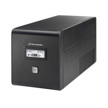 UPS Powerwalker VI LCD 1000VA UPS, 1000VA/600W, Line Interactive  image