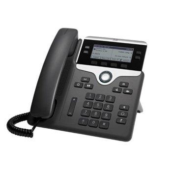 "VoIP телефон Cisco IP Phone 7841, 3.5"" (8.89 cm) 396×162pix чернобял дисплей, 2x LAN1000 Base-T, PoE, черен image"