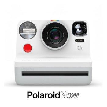 Фотоапарат Polaroid Now (бял), моментални снимки, светкавица, с батерия, auto-focus, USB image