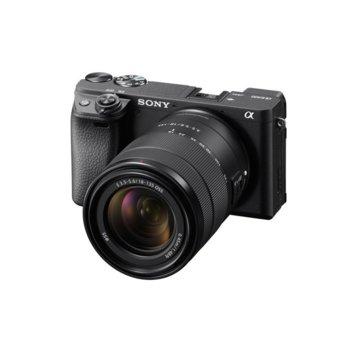 """Фотоапарат Sony A6400(черен) в комплект с обектив Sony E 18-135mm f/3.5-5.6 OSS, 24 Мpix, 3"""" (7.5 cm) TFT дисплей, Wi-Fi, Bluetooth, microUSB, microHDMI image"""