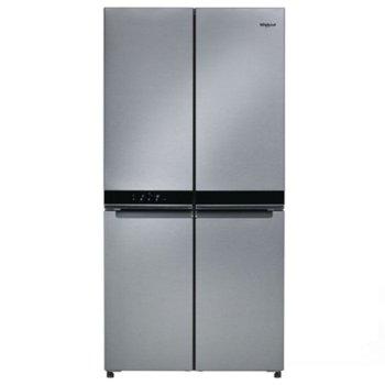 Хладилник с фризер Whirlpool WQ9 B2L, клас А++, 592 л. общ обем, свободностоящ, 380 kWh/годишно, Технологии Zen, No Frost, 6th Sense, инокс image