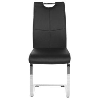 Трапезен стол Carmen 370-1, Еко кожа, 100 кг. максимално натоварване, черен image