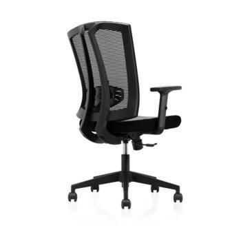 Работен стол RFG Brixen W, дамаска и меш, черна седалка, черна облегалка image