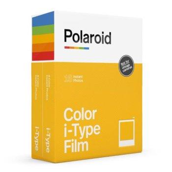 Фотохартия Polaroid Color film for i-Type – Double Pack, 4 x 3 inch, за Polaroid Now, 2x 8 листа image