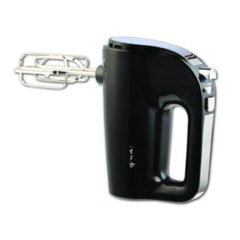 Миксер Arielli AHM-1008, 350 W, 5 степени на работа, турбо бутон, приставка за леки смеси, черен image