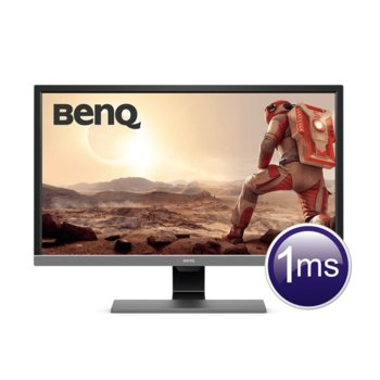 "Монитор BenQ EL2870UE (9H.LGTLB.FSE), 28"" (71.12 cm) TN панел, 4K/UHD, 1ms, 300cd/m2, 12 000 000:1, DisplayPort, HDMI image"