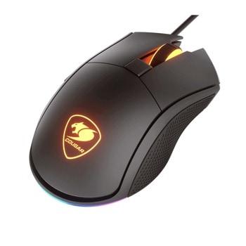 Мишка Cougar Gaming Revenger S Gaming Mouse, Оптична (12000 dpi), черна, с подсветка image