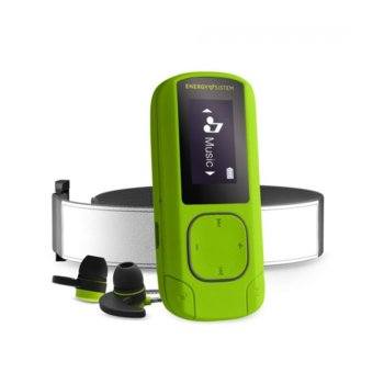 MP4 плейър Energy Тouch MP3 Clip BT Sport, 16GB, 0.8 inch LCD, Bluetooth, слот за microSDHC, зелен image