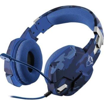 Слушалки Trust GXT 322B Carus, микрофон, гейминг, съвместими с PS4/Xbox One/Nintendo Switch, сини image