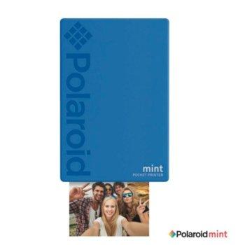 Мобилен принтер Polaroid Mint, цветен термичен фотопринтер, Bluetooth, A2 формат, Bluetooth, Zero Ink технология, micro USB, син image