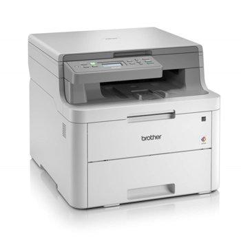 Мултифункционално лазерно устройство Brother DCP-L3510CDW, цветен принтер/копир/скенер, 2400 x 600 dpi, 18 стр./мин., USB 2.0, Wi-Fi/Direct, двустранен печат, A4 image