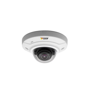 IP камера Axis M3024-LVE, куполна, 1 Mpix(1280x800@25FPS), 2.8 обектив, H.264/MPEG-4, външна IP66 защита, PoE, безжична 802.11, RJ-45, microSD/SDHC/SDXC memory card image