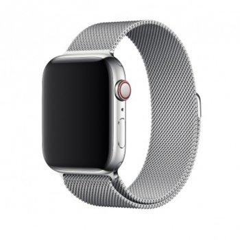 Каишка за смарт часовник Apple Watch (44mm) Milanese Loop, сребриста image