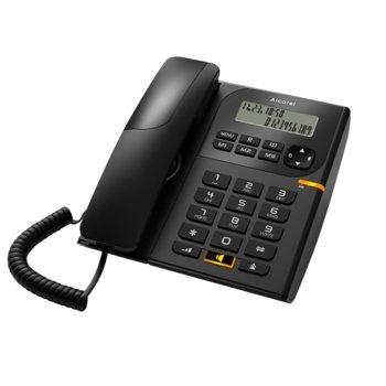 Стационарен телефон Alcatel T58, Течнокристален едноредов черно-бял дисплей, черен image