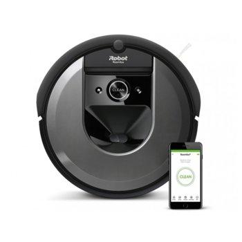 Прахосмукачка IRobot Roomba i7+ 7558, робот, безжична, навигация iAdapt 3.0, AeroForce филтър, сензор против падане по стълби, черен image