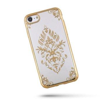 Силиконов калъф Beeyo Floral за iPhone 7/8 Златен product