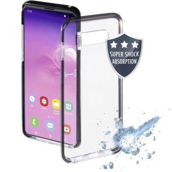 Калъф за Samsung Galaxy S10, полиуретан, Hama Protector, удароустойчив, черен image