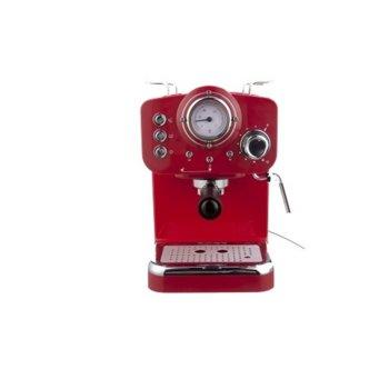 Ръчна еспресо кафемашина Arielli KM-501R, 1100W, 15 bar, 1.25л резервоар, червена image