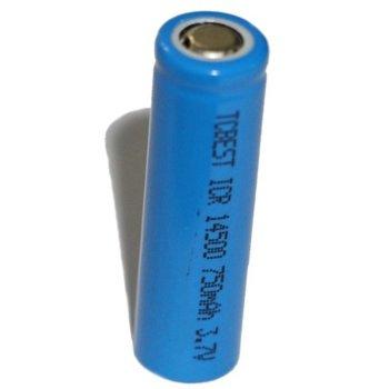 Акумулаторна батерия 14500, AA, 3.7V, 750mAh, Li-ion, 1бр. image