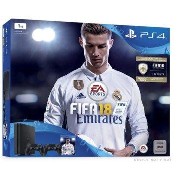 PS 4 Slim FIFA 18 допълнителен DS4 + 14 PS+ product