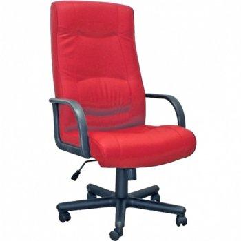 Директорски стол Faraon, еко кожа, фиксирани подлакътници, червен image