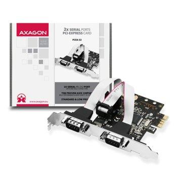 Контролер AXAGON PCEA-S2, от PCI-E към 2x Serial RS-232 image