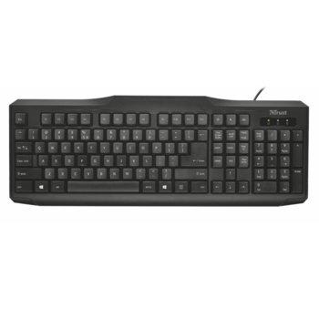 Клавиатура Trust ClassicLine Keyboard, черна, USB image