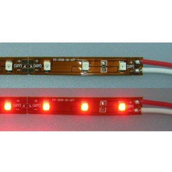 LED лента FS3528-60R, 4.8W/m, DC 12V, червена, 1m image
