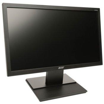 """Монитор Acer V196HQLAb, 18.5"""" (47 cm) TN панел, HD, 5ms, 100 000 000:1, 200cd/m2, VGA image"""
