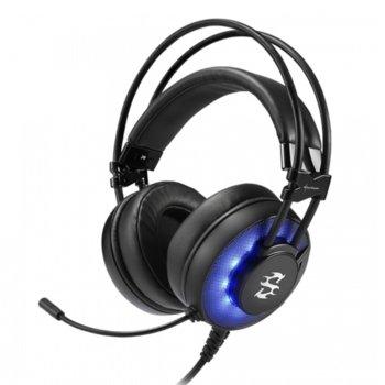 Слушалки Sharkoon Skiller SGH2, микрофон, позлатени конектори, геймърски, черни image