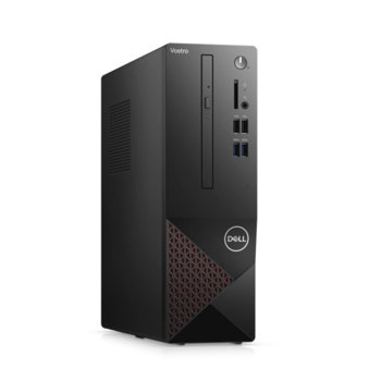Настолен компютър Dell Vostro 3681 SFF (N207VD3681EMEA03A_2101_UBU), шестядрен Comet Lake Intel Core i5-10400 2.9/4.3 GHz, 8GB DDR4, 256GB SSD, 4x USB 3.2 Gen 1, клавиатура и мишка, Linux image