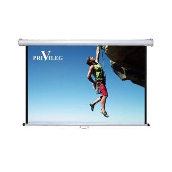 "Екран Privileg Classic DMW280, за стена/таван, 2800 x 1570 мм, 127"" (322.58 cm), 16:9 image"