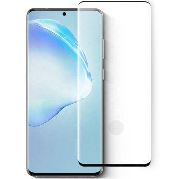 Протектор от закалено стъкло /Tempered Glass/ за Samsung Galaxy S20 Ultra, 3D, 0.3mm, черен image