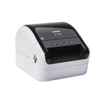 Етикетен принтер Brother QL-1100, 300 x 300 dpi, 6 MB памет, USB, 101.6 мм максимална ширина на етикета image