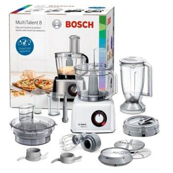 Кухненски робот Bosch MC812W872, 50 функции, Supercut острие, 1250W, бял image