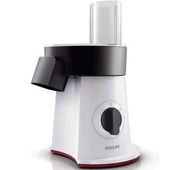 Кухненски робот Philips HR-1388/80, 500 W, 5 вложки за нарязване, Неръждаема стомана, бял image