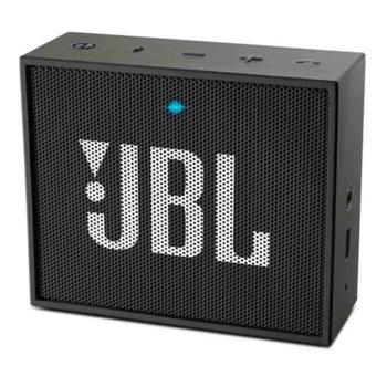 Тонколона JBL GO Plus, 1.0, 3W RMS, 3.5mm jack/Bluetooth, черна, до 5 часа работа image