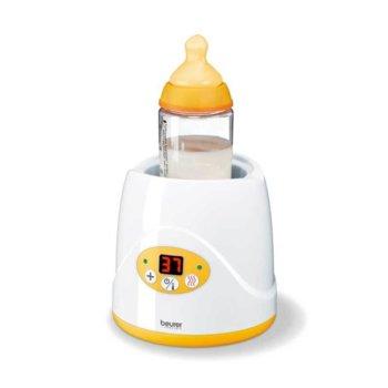 Уред за затопляне на бебeшки бутилки и храна Beurer BY52, LED дисплей, бял image