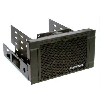 """Охлаждане за хард диск 2x5.25""""(2x13.34cm) Evercool HD-AR-B, за 3x 3.5""""(8.9 cm) или 4x 2.5""""(6.35cm), SATA, охлаждане с филтър за прах, черно image"""