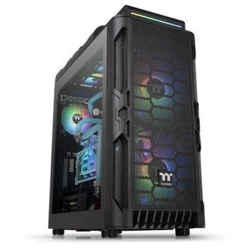 Кутия Thermaltake Level 20 RS ARGB, ATX/microATX/miniITX, 2x USB 3.0, 2x USB 2.0, 4мм темперирано стъкло, 2x 200mm ARGB вентилатора, черна, без захранване image