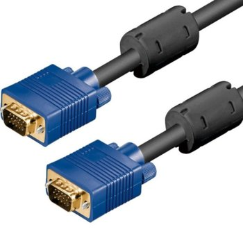 Кабел от VGA(м) към VGA(м), 15м, черен image