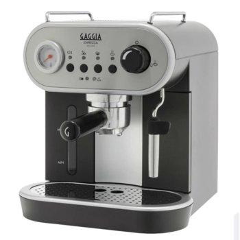 Ръчна еспресо машина GAGGIA Carezza Deluxe, 1300 W, 15 bar, Crema perfetta филтър, черна image