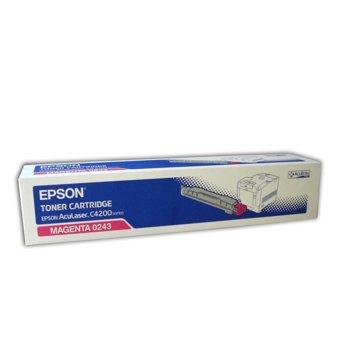 КАСЕТА ЗА EPSON AcuLazer C4200DN/DTN/DNPC5/DTNPC5/DNPC6 - Magenta - P№ C13S050243 - заб.: 8500k image