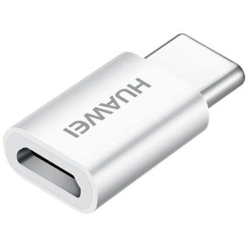 Преходник Huawei AP52, от microUSB(ж) към USB-C(м), бял image